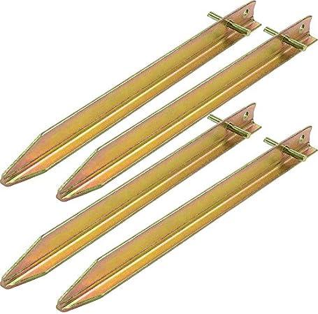 Picchetti per Tenda Moritz Profilo a T 30-40 o 50 cm in Acciaio