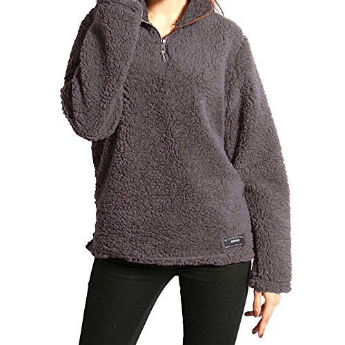 1/4 Zip Fleece Sweatshirt (New!! Women Plus Size Fleece Pullover,Lelili Winter Warm 1/4 Zip Fleece Sweatshirt Jacket Outwear Tops (Dark Gray, 3XL))