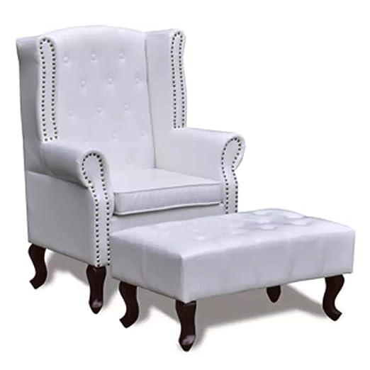 Xinglieu sillón Chesterfield con Reposabrazos y Reposapiés ...