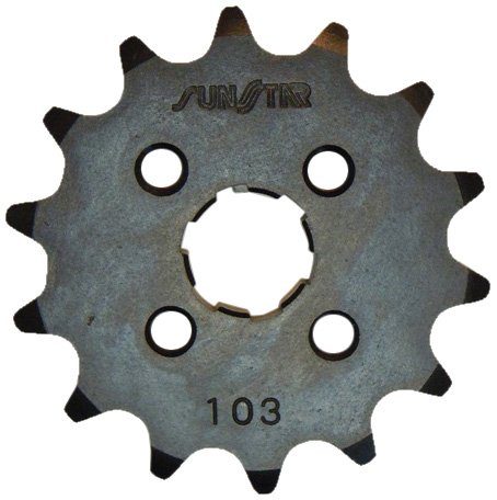Sunstar Honda Sprockets - Sunstar 10314 14-Teeth 420 Chain Size Front Countershaft Sprocket