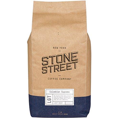 Stone Street Coffee Colombian Supremo Fresh Roasted Coffee, 5 lb Whole Bean
