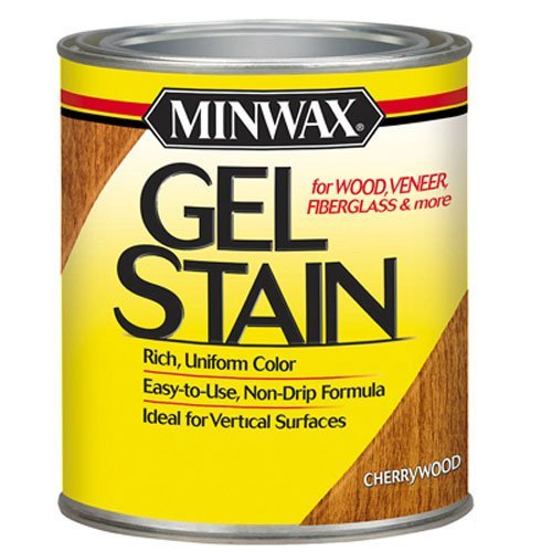 - Minwax 66070000 Gel Stain , quart, Cherry Wood