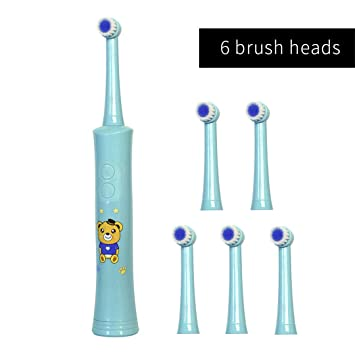 Amazon.com: Rotating Children Electric Toothbrush Tooth Brush Teeth Electric Toothbrush Rechargeable Hygiene Dental Care R01 R01 Blue 6heads: Beauty