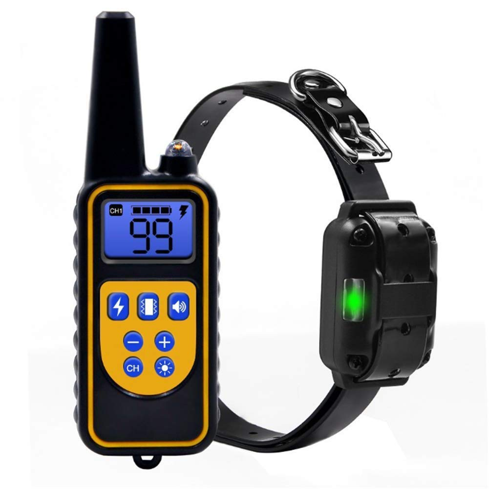 800m Electric Dog Training Collar Pet Remote Control Waterproof Rechargeable with LCD Display Shock Vibration Sound