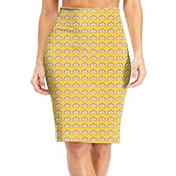 Womens New Printed Bodycon Skirt Unicorn Twinkle Love High Waist Stretch-Knit
