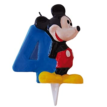 Mickey Mouse - Vela Nº 4 (Verbetena 014000394): Amazon.es ...