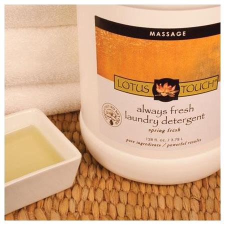 Lotus Touch Always Fresh Professional Massage Spa Laundry Sheet Detergent 1 Gallon/128oz