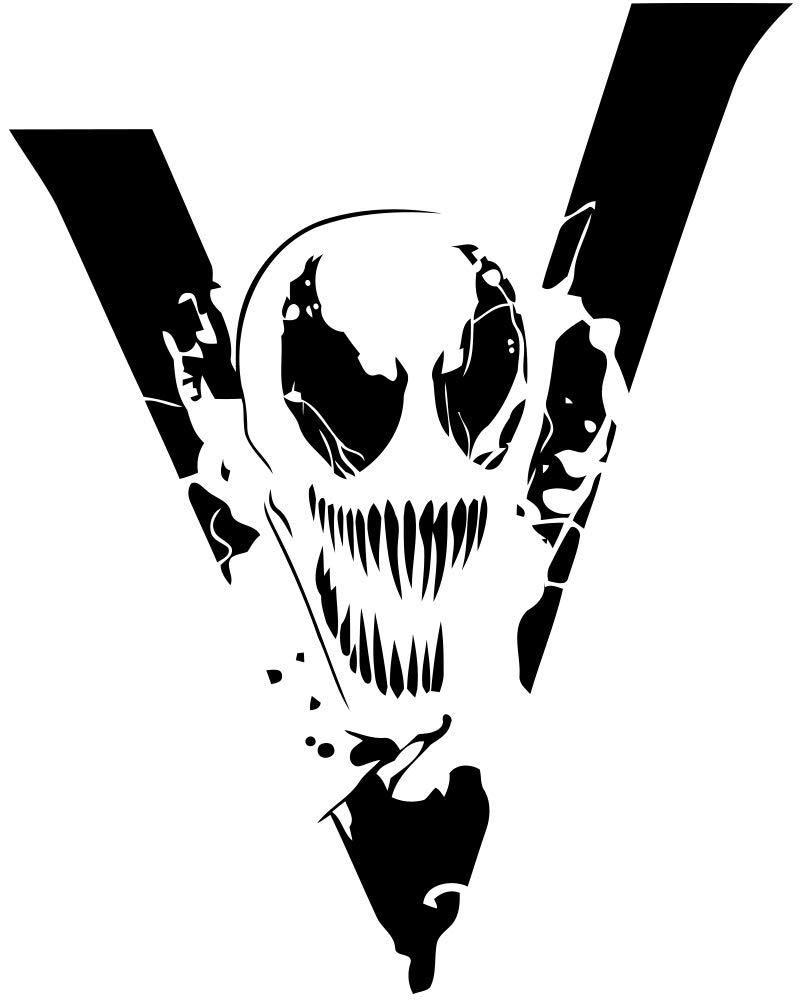 Venom logo fantasy design marvel comics fans vinyl art sticker super villain wall print cartoon animated decal teens room action movie roommates tom hardy