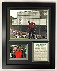 """Legends Never Die PGA Tiger Woods 1997 Masters Champion Framed Double Matted Photos, 12"""""""