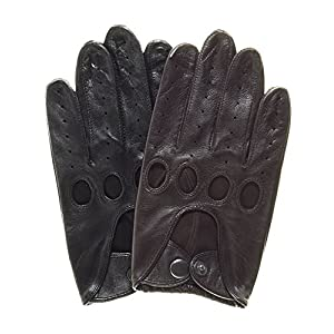 Pratt and Hart Touchscreen Leather Driving Gloves