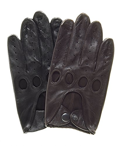 Pratt and Hart Touchscreen Leather Driving Gloves Size M Color Black