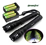 2X Police Tactical 5000 Lumens Led Flashlight 18650 Cree T6 XML Torch +Battery + Charger