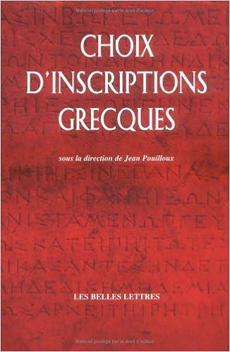 Livres Choix d'inscriptions grecques epub, pdf