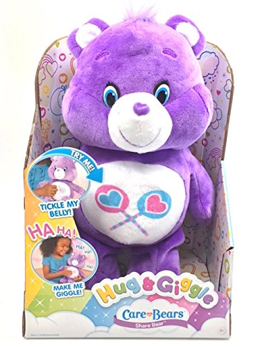 Treasure Bear Hugs (Just Play Care Bears Hug & Giggle Feature Share Plush)