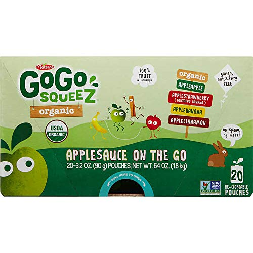 Materne GoGo Squeez Organic Applesauce, Variety Pack, 3.2 oz, 20 ct by Materne (Image #7)
