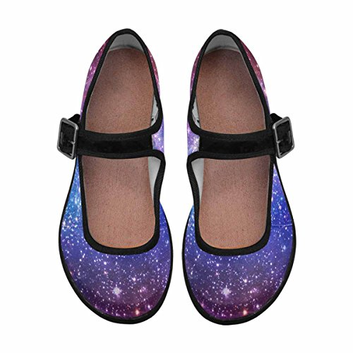 InterestPrint Womens Comfort Mary Jane Flats Casual Walking Shoes Multi 1 EjBOIo