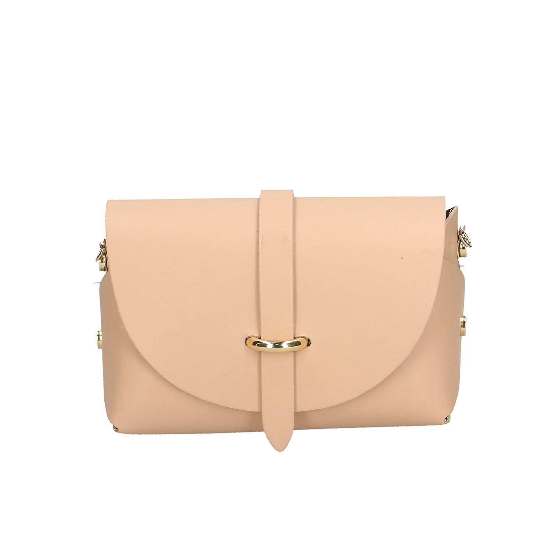 1a176bf131160 Yisaesa - Damen Crossbody Schulter kleine Tasche aus echtem Leder Made in  Italy - 18x11x9 cm (Farbe   Hell-Pink
