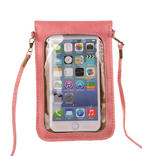 Bag KISS Cellphone Model Luxury B Matte GOLD TM PU pink Pouch Crossbody Single Shoulder Leather Mini qSBvqw
