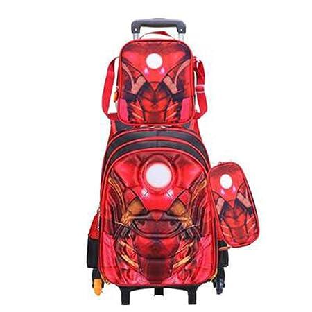 RLJYING Marvel Anime Primary School Trolley Bag Mochila ...