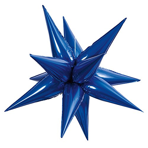 Large Foil 12 Point Royal Blue Star Balloon by Unique Industries