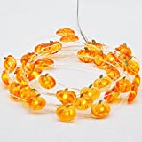 Led Christmas Lights Battery Powered, Impress Life Pumpkin Lights 10 ft 40 LEDs for Thanksgiving Wedding Birthday Parties, DIY Home Mantel New Year Decoration with Remote & Timer