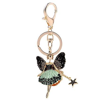 Llaveros,Creativa Moda SeñOra Linda Crystal Angel Doll ...