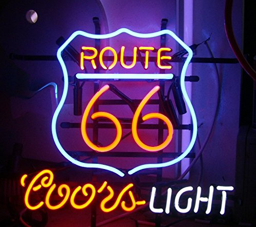 Route 66 Coors Neon Sign 17