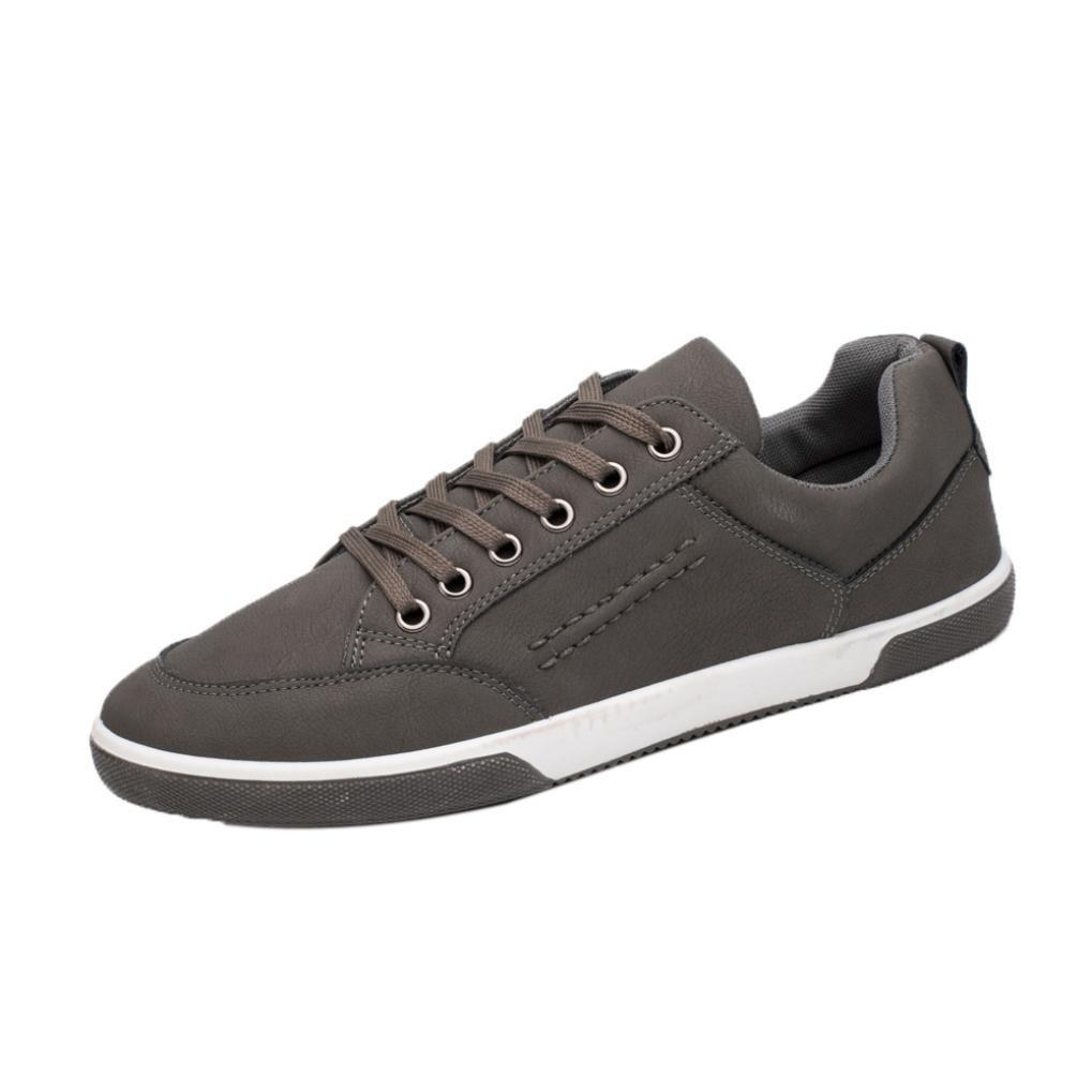 Zapatos Deportivos Verano para Hombre ?? Yesmile Moda Zapatos de Casuales Elegantes Calzados de Cuero Artificial Zapatillas de Deporte Britá nicas Suave Suela Botas Bajas