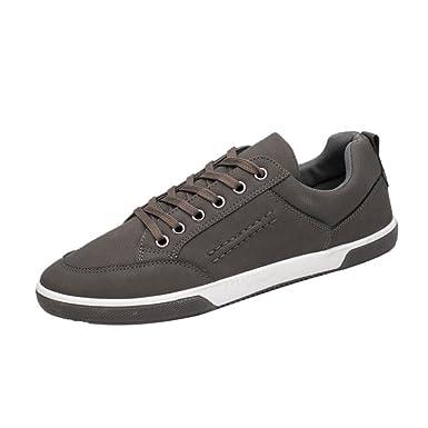 Zapatos Deportivos Verano para Hombre ?? Yesmile Moda Zapatos de Casuales Elegantes Calzados de Cuero Artificial Zapatillas de Deporte Británicas Suave ...