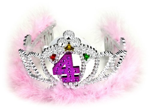 Forum Novelties 4th Birthday Flashing - Feather Marabou Tiara