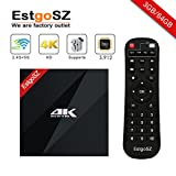 EstgoSZ Smart TV BOX 3GB/64 GB Android 7.1 OS, Amlogic S912 Octa Core 64 bits with Dual Band WIFI 2.4G/5.0 GHz 1000M LAN Mini PC Google Android Internet Set - top Box
