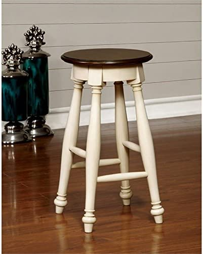 Furniture of America Hendrix 24 Counter Stool in White Set of 2