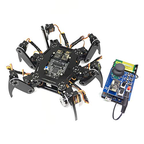 Freenove Hexapod Robot Kit with Remote Control, Compatible with Arduino Raspberry Pi Processing, Spider Walking Crawling STEAM STEM Project (Spider Robot)