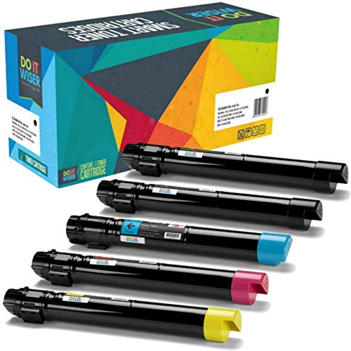 Compatible Toner Cartridges For Xerox Phaser 7500 7500N 7500DN 7500YDN 7500DT 7500YD 7500DX - 106R01439 106R01436 106R01437 106R01438 - (5 Pack) (Phaser Color 7500n)