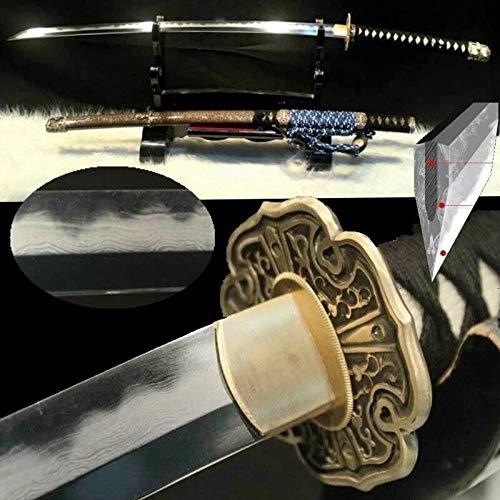 GLW Sword Tachi Samurai Sword Katana Kobuse Jihada Forged Steel Blade Clay Tempered 100% Handmade Grinding Polishing…