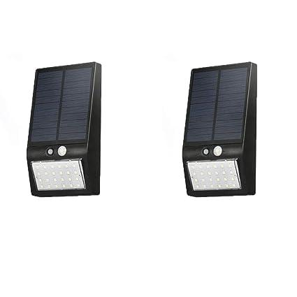 Luz Solar Jardín, 24 LED Foco Solar Exterior con Sensor de Movimiento Luces Solares Lmpermeable