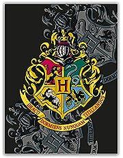 Gosig filt Harry Potter svart stor