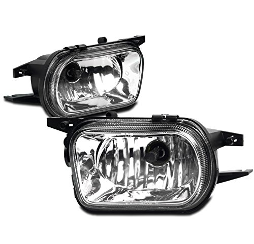 ZMAUTOPARTS Mercedes Benz C CLass W2 Bumper Fog Lights Chrome W/Bulb Set