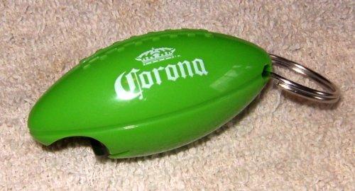 Corona Beer Football Bottle Opener & Keychain (Corona Extra Crystals)