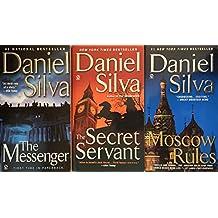 "Gabriel Allon Series Book Set #6, #7 & #8: ""The Messenger"", ""The Secret Servant"" & ""Moscow Rules"""