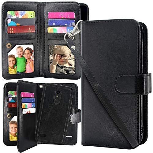 [해외]Harryshell 12 카드 슬롯 분리형 자기 지갑 케이스 충격 방지 PU 가죽 플립 보호 커버 손목 스트랩 LG K30 (X410)lg 하모니 2LG 피닉스 플러스lg 프리미어 프로 LTE (블랙) / Harryshell 12 Card Slots Detachable Magnetic Wallet Case Shockproof ...