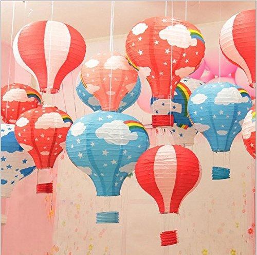 Zeavola Hot Air Balloon Paper Lanterns Lantern Ball Lamps,Mixed Colors Pack of (Hot Paper Lantern)