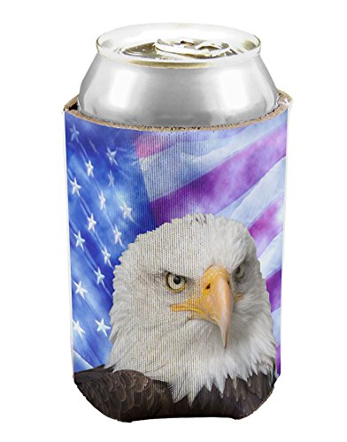 TooLoud All American Eagle All Over Can / Bottle Insulator Cooler - 1 Piece All Over Print