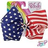 JoJo Siwa Large Cheer Hair Bow (Stars and Stripes)