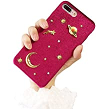 Saturn moon X mobile phone shell For iPhone7plus velvet 6S protective sleeve female 8plus,D,For iPhone 7