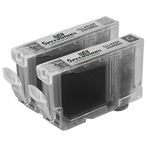 Speedy Inks - Canon Compatible CLI-42 CLI42 CLI 42 Set of Gray Cartridges 6390B002 Gray, & 6391B002 Light Gray For use in Canon PIXMA PRO-100