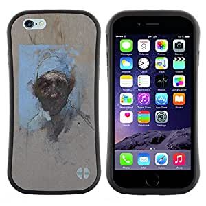 "Hypernova Slim Fit Dual Barniz Protector Caso Case Funda Para Apple (4.7 inches!!!) iPhone 6 / 6S (4.7 INCH) [Pintura Acuarela Arte Hombre""]"