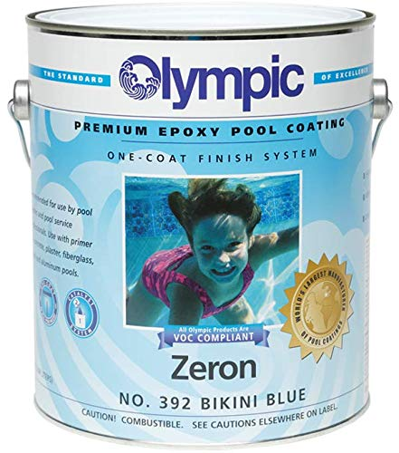 Olympic Zeron One-Coat Epoxy Swimming Pool Paint - 6 Pack Bikini Blue by Olympic