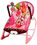 Toyshine Infant to Toddler Rocker Chair with Calming Vibrations, Metal Frame, Pink