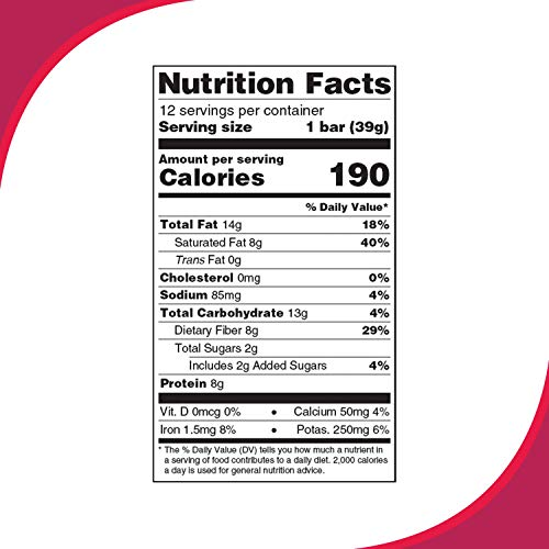 Love Good Fats Bars – Coconut Chocolate Chip – Keto-Friendly Protein Bar with Natural Ingredients – Low Sugar, Low Carb, Non GMO, Gluten & Soy Free Snacks for Ketogenic Diets – (12 Count) 6